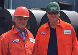Rep. Rick Rand & John Farris at Nucor